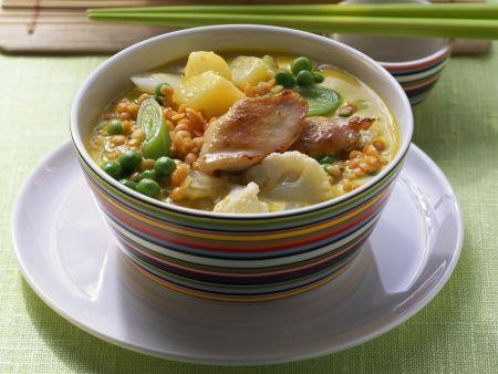 Rezept: Gemüse-Hähnchen-Curry