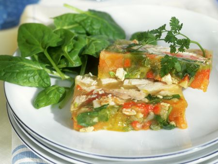 Gemüse-Hähnchen-Sülze