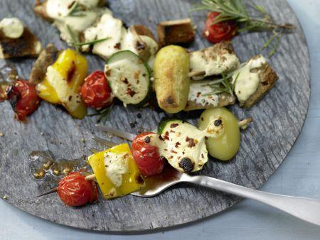 Gemüse-Kebabs