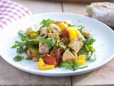 Gemüse-Lachs-Salat