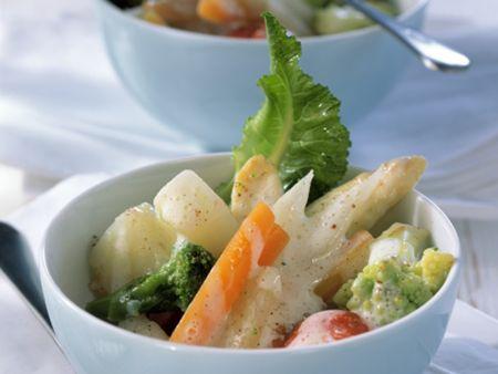 Gemüse mit Béchamelsauce
