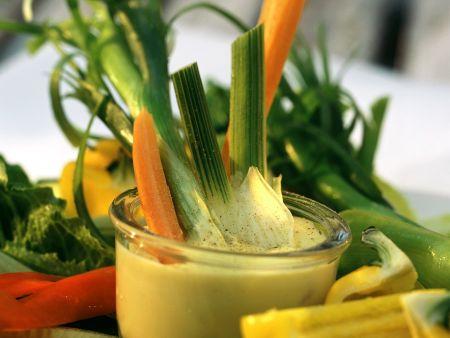 Gemüse mit Mayonnaise