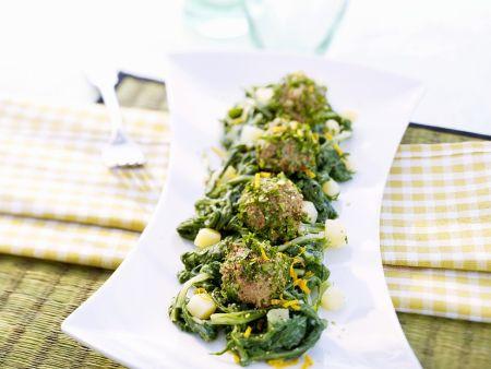 Gemüse mit Wurstbällchen