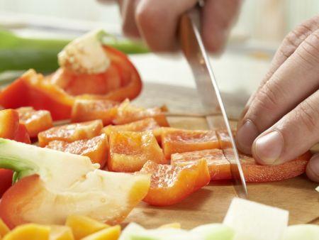 Gemüse-Reis-Pfanne aus dem Ofen: Zubereitungsschritt 2