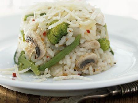 Gemüse-Pilz-Reis