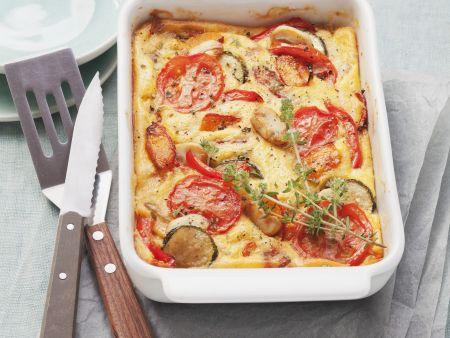 Gemüse-Polenta-Gratin