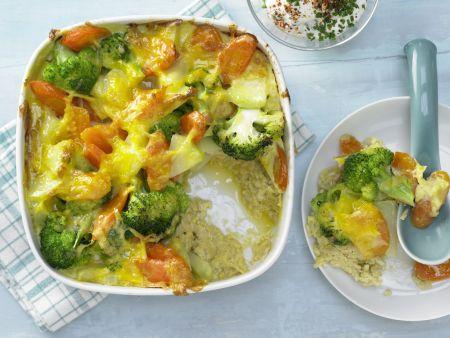 Gemüse-Reis-Auflauf