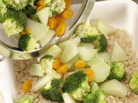 Gemüse-Reis-Auflauf: Zubereitungsschritt 6