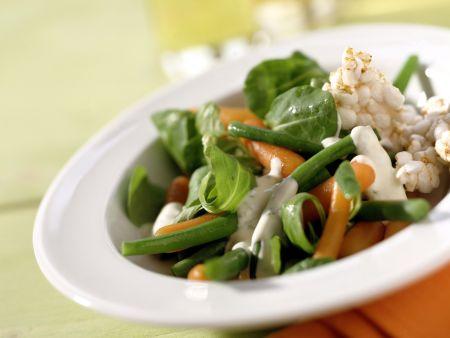 Gemüse-Spinat-Salat