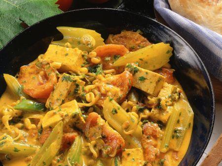 Gemüse-Tofu-Curry