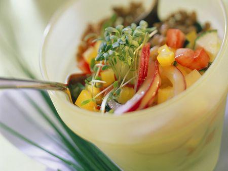Gemüse-Weizensalat