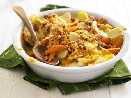 Gemüseauflauf mit Nusskruste