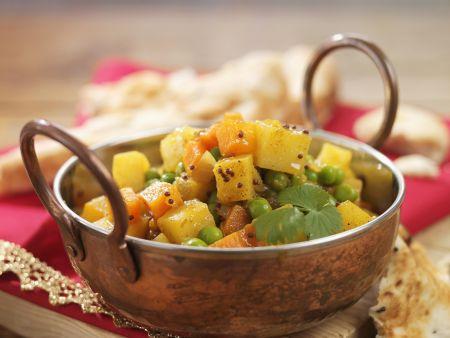 Gemüsecurry auf indische Art