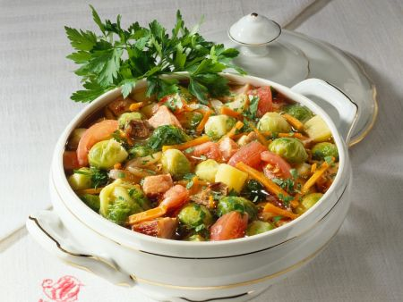 Gemüseeintopf mit Kassler