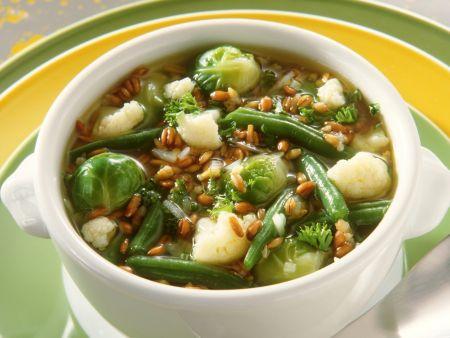Gemüseeintopf mit Weizen