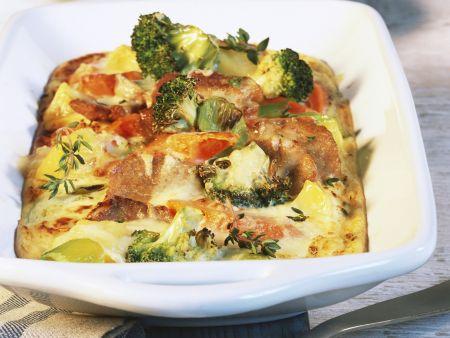 Gemüsegratin mit Raclette überbacken