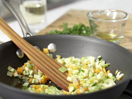Gemüsenudeln: Zubereitungsschritt 4