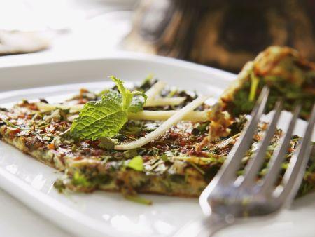 Gemüseomelett mit Kräutern