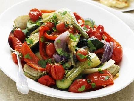 Gemüsesalat vom Grill