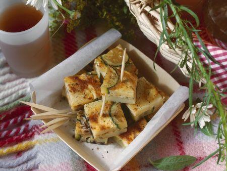 Gemüsetortilla mit Zucchini und Pilzen