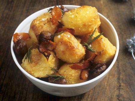 Geröstete Kartoffeln mit Rosmarin
