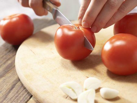 Geröstete Tomatenbrote: Zubereitungsschritt 1