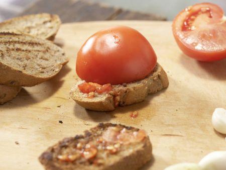 Geröstete Tomatenbrote: Zubereitungsschritt 4
