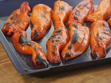 Geschmorte Makrele mit Paprika: Zubereitungsschritt 1
