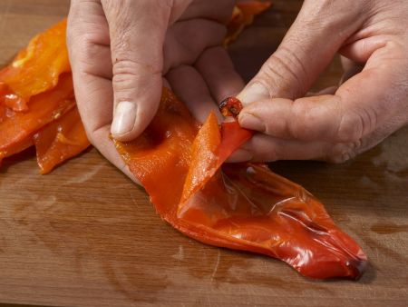 Geschmorte Makrele mit Paprika: Zubereitungsschritt 5