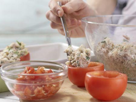 Geschmorte Thunfisch-Tomaten: Zubereitungsschritt 7