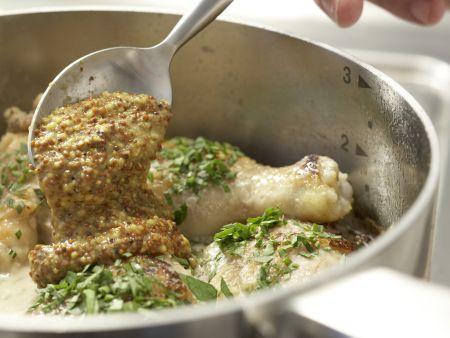 Geschmortes Hähnchen auf französische Art: Zubereitungsschritt 11