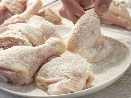 Geschmortes Hähnchen auf französische Art: Zubereitungsschritt 5