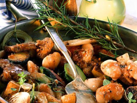 Geschmortes Lamm mit Gemüse