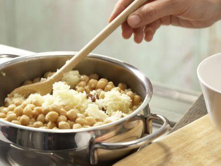 Geschnetzeltes mit Kichererbsen: Zubereitungsschritt 1