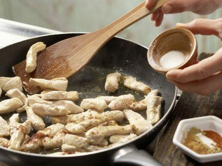 Geschnetzeltes mit Kichererbsen: Zubereitungsschritt 5