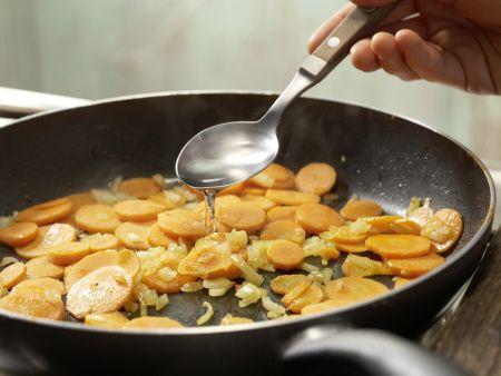 Geschnetzeltes mit Kichererbsen: Zubereitungsschritt 7