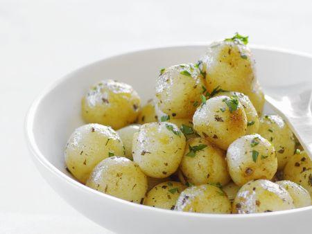 Glasierte Weißwein-Kartoffeln
