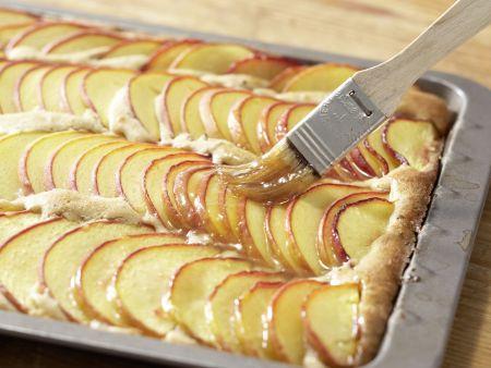 Glasierter Pfirsichkuchen: Zubereitungsschritt 8