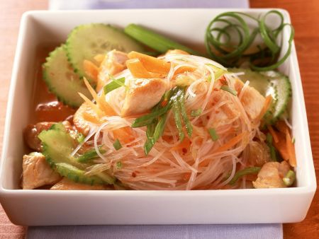 Glasnudel-Hähnchen-Salat