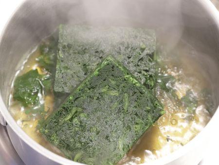 Gorgonzola-Spinat-Pasta: Zubereitungsschritt 2