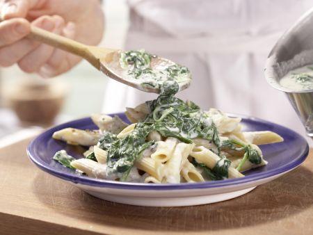 Gorgonzola-Spinat-Pasta: Zubereitungsschritt 5