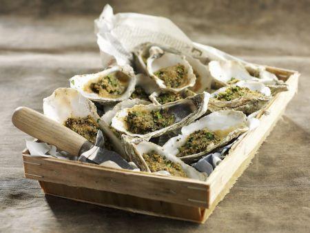 Rezept: Gratinierte Austern