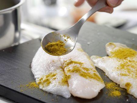 Graupenrisotto mit Fischfilet: Zubereitungsschritt 4