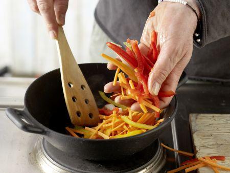 Griechische Gemüsepfanne: Zubereitungsschritt 5