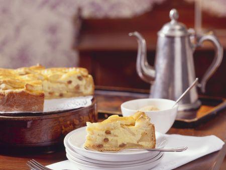Grieß-Apfel-Kuchen mit Sultaninen