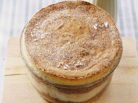 Grieß-Soufflee mit Vanille und Schokolade