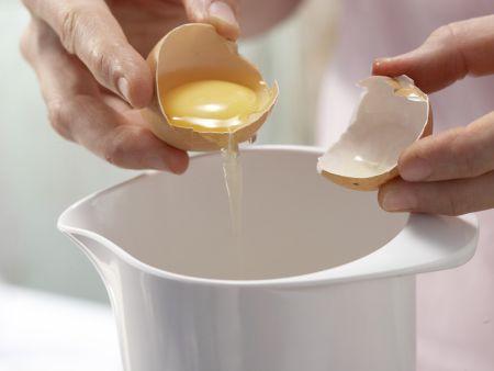 Grießpfannkuchen mit Rhabarber: Zubereitungsschritt 3