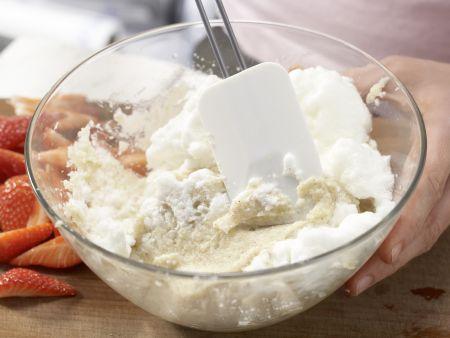 Grießpfannkuchen mit Rhabarber: Zubereitungsschritt 5