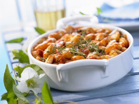 Große Bohnen mit Tomatensugo