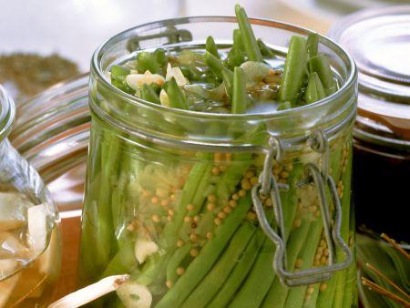 Grüne Bohnen Milchsauer eingelegt